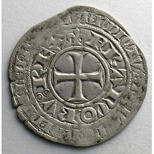 Photo numismatique  Monnaies Monnaies royales françaises Charles V   (1364-1380) Duplessy 363   Blanc au K 20 avril 1365    TTB/TTB+