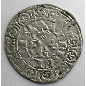Photo numismatique  Monnaies Monnaies royales françaises Charles V   (1364-1380) Duplessy 363   Blanc au K 20 avril 1365    TTB