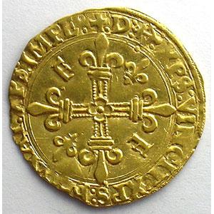 Photo numismatique  Monnaies Monnaies royales françaises François I   (1515-1547) Duplessy 775   Ecu d'or au soleil, 5° type ancre dans la légende  Bayonne    TTB+