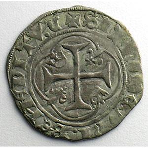 Photo numismatique  Monnaies Monnaies royales françaises Charles VII   (1422-1461) Duplessy 519   Blanc à la couronne CI   Chinon    TB+/TTB