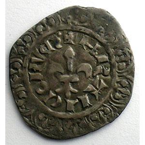 Photo numismatique  Monnaies Monnaies royales françaises Philippe VI   (1328-1350) Duplessy 263   Gros à la fleur de lis Dupl.263 A   2° émission 17 février 1341    TB+/TTB