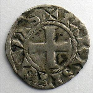 Photo numismatique  Monnaies Monnaies royales françaises Louis VII   (1137-1180) Duplessy 146   Denier 3° type Paris    TB+/TTB