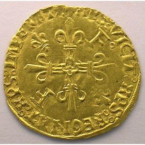 Photo numismatique  Monnaies Monnaies royales françaises François I   (1515-1547) Duplessy 775   Ecu d'or au soleil, 5° type Point 5° Toulouse    TTB/TTB+