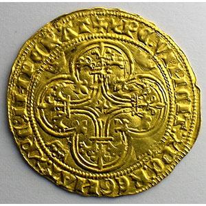 Photo numismatique  Monnaies Monnaies royales françaises Charles VI   (1380-1422) Duplessy 369   Ecu d'or à la couronne sans point d'atelier    TTB+