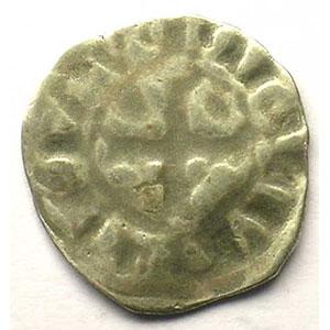 Photo numismatique  Monnaies Monnaies royales françaises Philippe IV   (1285-1314) Duplessy 223 bis   Denier Tournois FRAPPE INCUSE TTB