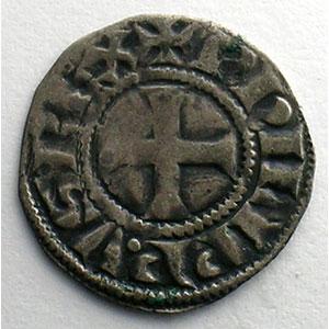 Photo numismatique  Monnaies Monnaies royales françaises Philippe IV   (1285-1314) Duplessy 223   Denier Tournois à l'O rond TTB