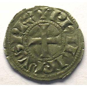Photo numismatique  Monnaies Monnaies royales françaises Philippe IV   (1285-1314) Duplessy 223   Denier Tournois à l'O rond TTB+