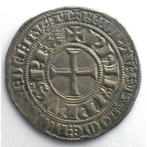 Photo numismatique  Monnaies Monnaies royales françaises Philippe IV   (1285-1314) Duplessy 213   Gros Tournois à l'O rond TTB+