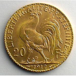 Photo numismatique  Monnaies Or et Argent d'investissement 20 Francs or - Napoléons type Marianne millésimes divers   (6,45 g or 900 mill.)    SUP/FDC