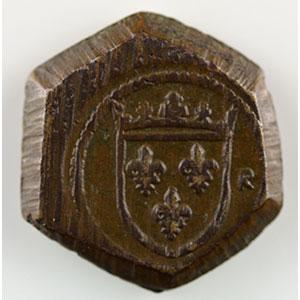 Photo numismatique  Monnaies Poids monétaires France Charles VI   (1380-1422) Poids monétaire de l'Ecu à la Couronne    SUP