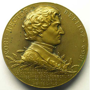 MOUCHON   Centenaire de la naissance de Berlioz   bronze   7 mars 1903   50mm    SUP