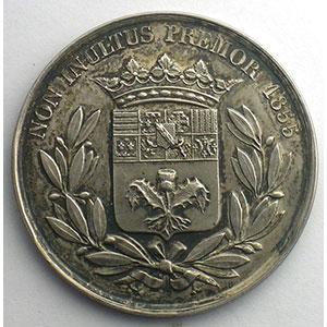 Nancy   Jeton rond en argent   33mm   1855    SUP