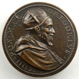 Niccolo de Bonis et Giorgio Rancetti   Médaille en bronze   35mm   Consécration de l'autel de la Confession de la basilique vaticane    TTB+