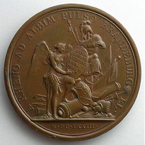 Non signée   L'Electeur de Brandebourg poussé jusqu'à l'Elbe   bronze   41mm    SUP/FDC