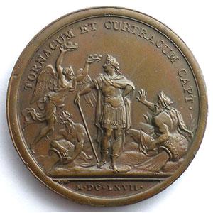non signée   Prise de Tournai et de Courtrai   bronze   41mm    SUP/FDC