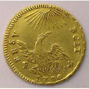 Once d'or   Charles de Bourbon  (1734-1759)   1750 FN  (Palerme)    TTB+