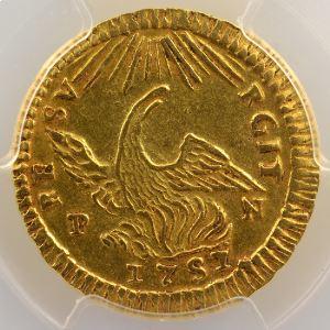 Once d'or   Charles de Bourbon  (1734-1759)   1751 PN  (Palerme)    PCGS-AU58    SUP