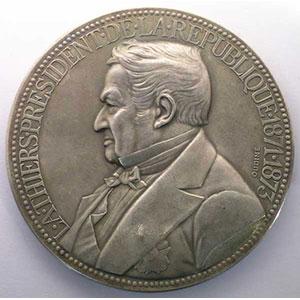 OUDINE   Médaille en argent   71mm   1871-1873    SUP/FDC
