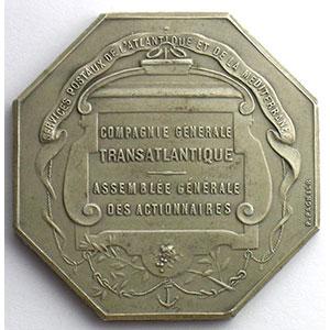 PAGNIER   Jeton octogonal en argent   Cie Gle Transatlantique    SUP/FDC