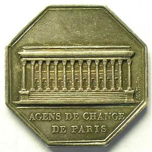 Paris   jeton octogonal en argent   Louis XVIII   1821    TTB