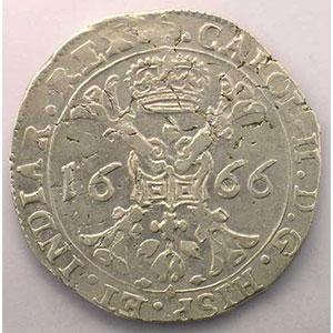 Patagon   Charles II (1665-1700)   1666 Bruges    TTB/TTB+