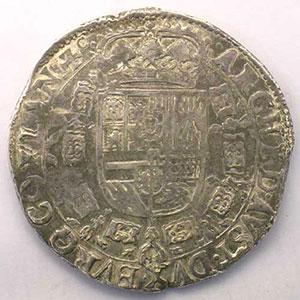 Patagon   Charles II (1665-1700)   1666 Bruges    TTB