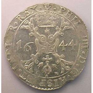Patagon   Philippe IV (1621-1665)   1644 Anvers    TTB/TTB+