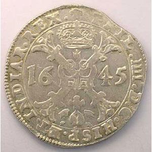 Patagon   Philippe IV (1621-1665)   1645 Bruxelles    TTB/TTB+