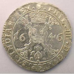 Patagon   Philippe IV (1621-1665)   1646 Anvers    TTB+