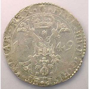 Patagon   Philippe IV (1621-1665)   1649 Anvers    TTB