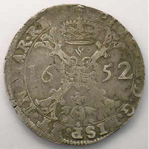 Patagon   Philippe IV (1621-1665)   1652 Bruxelles    TB+/TTB