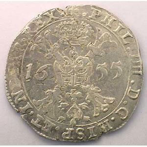 Patagon   Philippe IV (1621-1665)   1655 Bruges    TTB