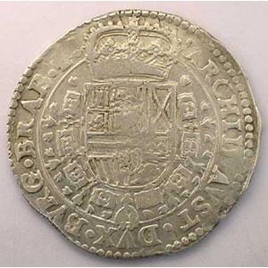 Patagon   Philippe IV (1621-1665)   1657 Anvers    TTB