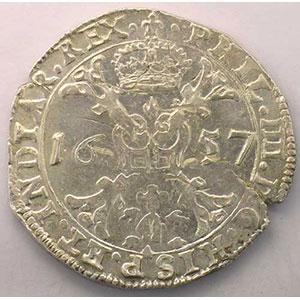 Patagon   Philippe IV (1621-1665)   1657 Bruges    TTB/TTB+