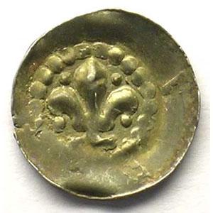 Pfennig au Lys   14° siècle    TTB