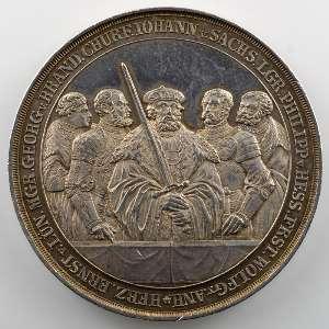 Pfeuffer   Médaille en argent  41mm   300° anniversaire de la protestation contre l'édit de Worms   1829    SUP