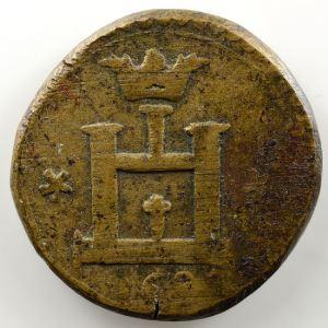 Poids monétaire du 1/4 Ecu de Gênes   date illisible (16..)    TB