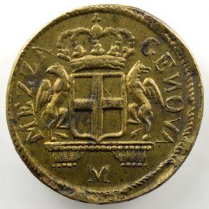 Poids monétaire du 48 Lires de Gênes   lettre M à l'avers    TTB+
