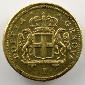 Poids monétaire du 48 Lires de Gênes   lettre P à l'avers    TTB+