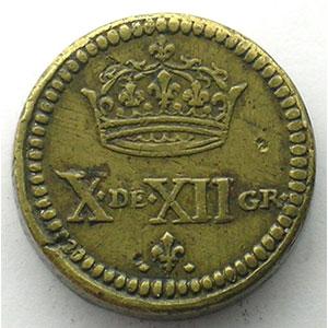 Poids monétaire du Double Louis aux 8L    TTB/TTB+