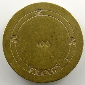 Poids monétaire pour la pièce de 100 Francs    TTB