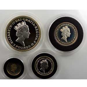 Proof set   1997 Silver Proof Britannia Collection   20 Pence, 50 Pence, Pound & 2 Pounds