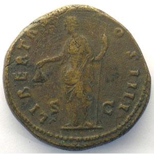 R/ LIBERTAS COS IIII SC   (Rome 154-155)    TB+/TTB