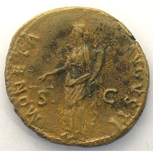 R/ MONETA AVGVSTI  SC   (Rome 92-94)    TTB