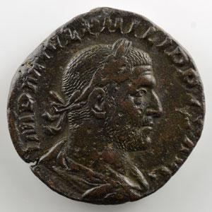 R/ P M TR P III COS P P SC   (Rome 246)    TB+