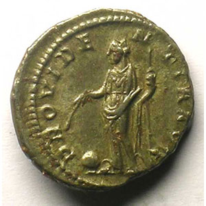 R/ PROVIDENTIA AVG   (Rome 222-228)    TTB