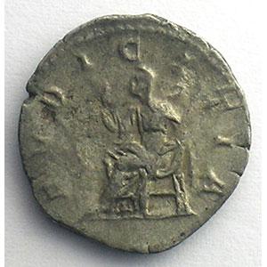 R/ PVDICITIA   (Rome 218-220)    TB+