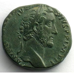 R/ TR POT XIX COS IIII SC   (Rome 155-156)    TTB/TTB+