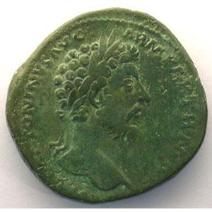 R/ TR POT XXII IMP IIII COS III SC   (Rome 168)    TB/TTB