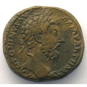 R/ TR POT XXIII IMP V COS III SC   (Rome 169)    TB/TB+